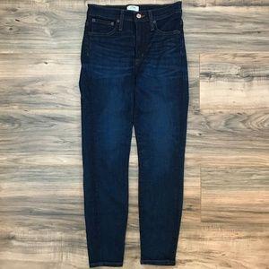 J.CREW High Rise Toothpick Skinny Stretch Jeans 26
